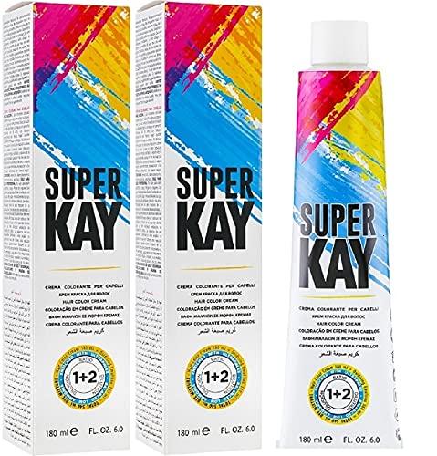 Super Kay 11.00 Super Platinum Lot de 2 tubes de coloration permanente Blond naturel 180 ml
