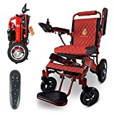 2020 Limited Edition Remote Control Foldable Electric Wheelchair Mobility Aid Lightweight Motorized Power Wheelchairs (17.5' Wide)