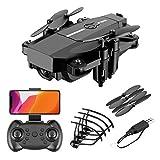 DEAR-JY Mini Drones WiFi FPV Portátiles,Drone Quadcopter Profesional Plegable de 2.4Ghz RC con cámara HD,Control Remoto Inteligente Drone Sensor de Gravedad Retorno de una tecla,Negro,5.0MP