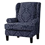 DQWGSS Funda para sillón de Orejas, Funda elástica para sillón de Orejas con Estampado Decorativo Protector de sillón para Sala de Estar, Dormitorio, hogar (Color: Color 1)