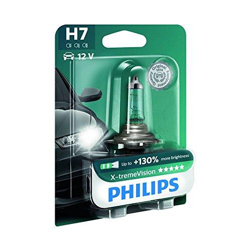 Philips 12972XVB1 X-treme Vision - Bombilla H7 para faros delanteros (1 unidad, 12 V, 55 W, PX26d, 100% más potencia)