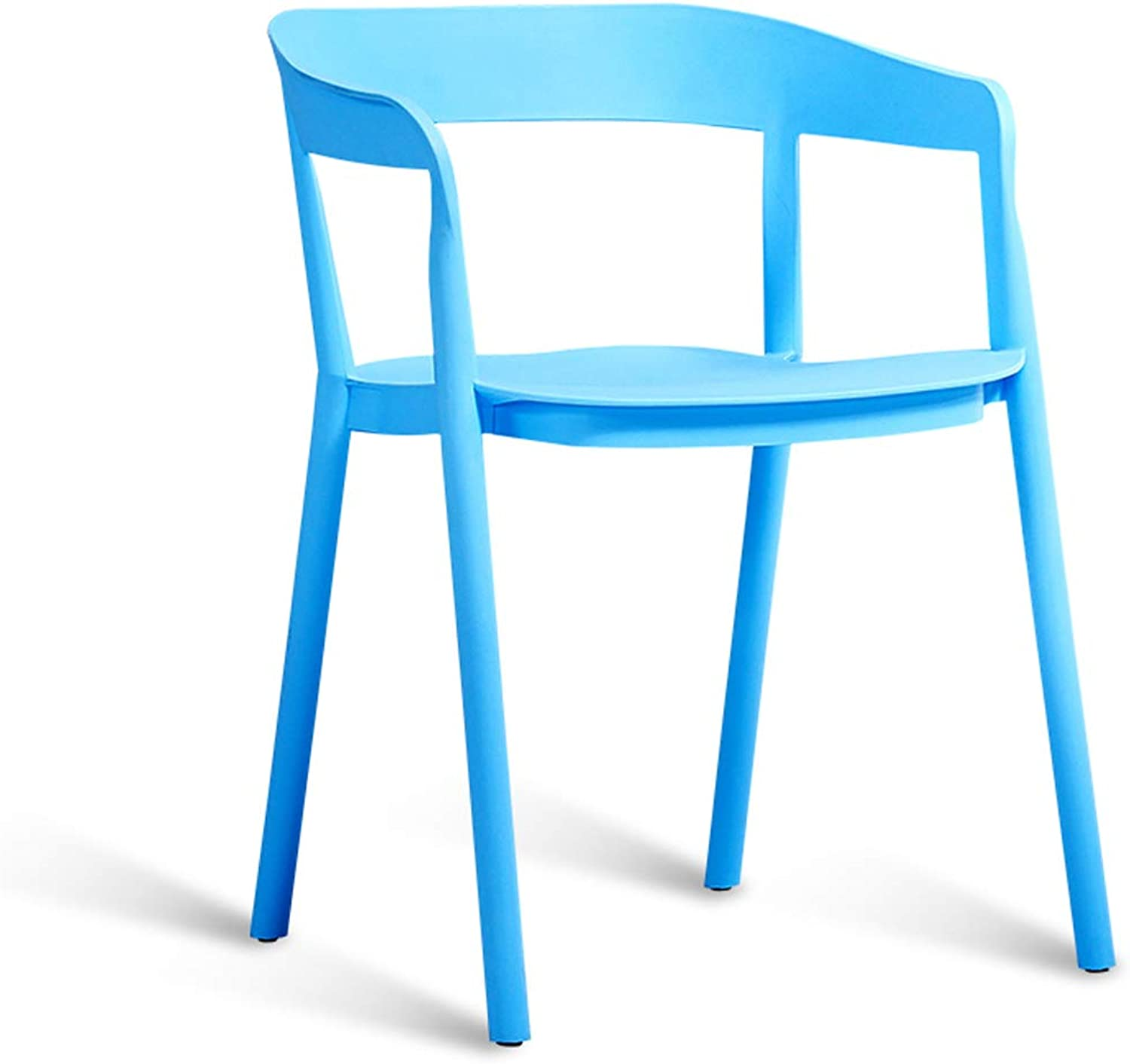 LRW Nordic Minimalist Study Chairs, Adult Backrest Chairs, Creative Leisure Stools, Fashionable Plastic Armchairs, bluee