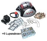EDU-TOYS Elektrischer Steinschleifer zur Herstellung von Edelsteinen und 6 extra Mini Lupendosen -
