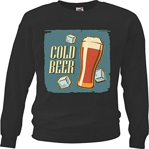 Sweatshirts tarwebier bierglas Oktoberfest vodka wijn witte wijn alcohol gedistilleerde drank in zwart