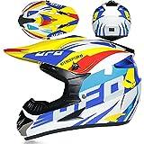 Casco Motocross Integral Cascos De Cross De Moto Set Con Gafas Máscara Guantes DOT/ECE Homologado ATV Downhill Endurance Racing Casco MTB BMX Casco Para Adulto Mujer Hombre D,L