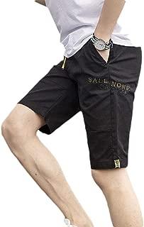 Mogogo Men's Beach Cotton Breathable Print Relaxed Pockets Mid Length Short