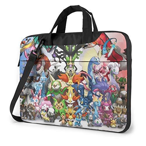 Po-Ke-Mon Shockproof Laptop Shoulder Messenger Bag Case Sleeve for 13 Inch 14 Inch Laptop Case Laptop Briefcase 15.6 Inch