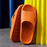 LLGG Sandalias de baño Antideslizantes,Sandalias de Masaje EVA, Zapatillas de baño suave-559 Naranja_36-37,Zapatillas de Ducha para Mujer EVA