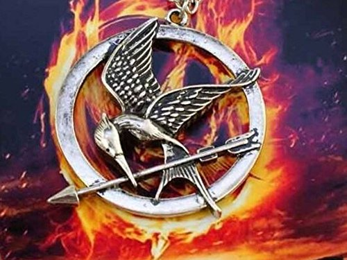 The Hunger Games Mocking Jay Halskette in Antik Bronze Detaillierte Radierungen auf Mockingjay - Schmuck Die Tribute von Panem Medaillon Spotttölpel