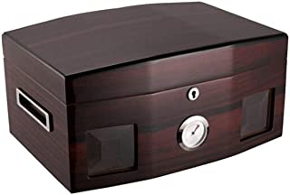 FRDYB Cigarette Case, Cedar Wood Cigar Box, Mellow Moisturizing Cigarette Case, Large Capacity Cigar Box. (Color : Brown)