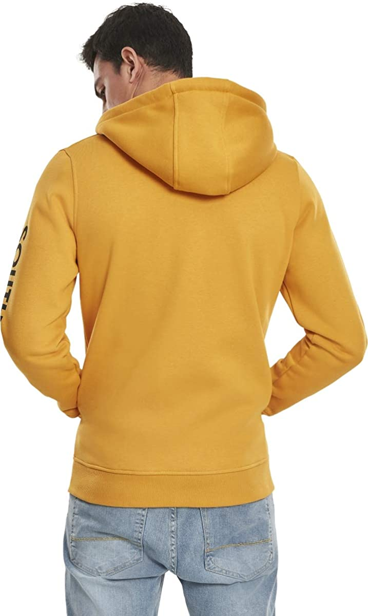 Southpole NASA Insignia Logo Zip Hoody Sweater Homme Orange