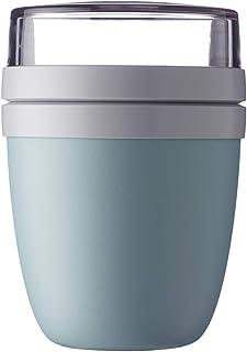 Lunchpot Ellipse Nordic Grün– 500 ml praktischer Müslibecher, Joghurtbecher, To go Becher – Geeignet für Tiefkühler, Mikro...