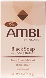 Ambi Black Soap with Shea Butter 3.50 oz (Pack of 12)