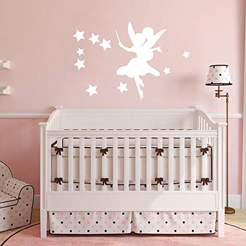 Calcomanías de pared mágicas para sala de estar dormitorio de niñas decoración del hogar estrella lindo mural de vinilo pegatinas de pared portátil silueta calcomanías