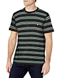 Volcom Men's Moorley Crew Short Sleeve Striped Shirt, Black, Medium