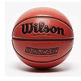 Wilson Men's SHOWCASE COMP BSKT SZ7 Basketball, BROWN, OFFICIAL