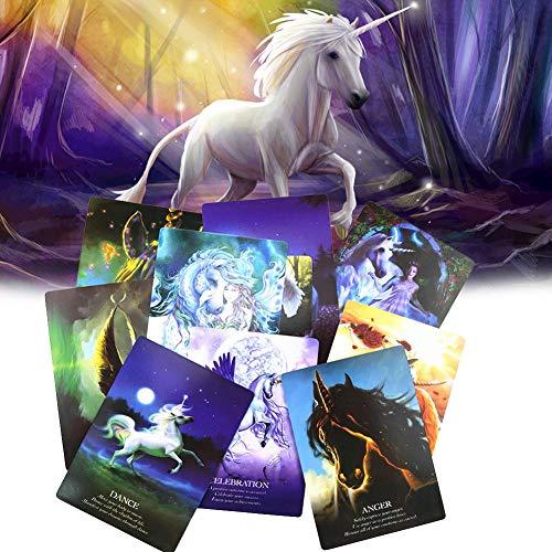 Oracle Cards Tarot: Un Reino de Magia, Milagros y Encantamiento | Chakra Tarot Card Sabiduría Oracle Cards | un Símbolo de Milagros, Pureza y Magia | Adéntrate en su Maravilloso Reino