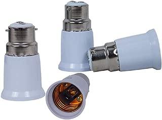 B22 to E27 Edison Screw LED Bulb Base Socket Converter Adaptor Fitting Extender Holder Energy Saving Lamp (4PCS)