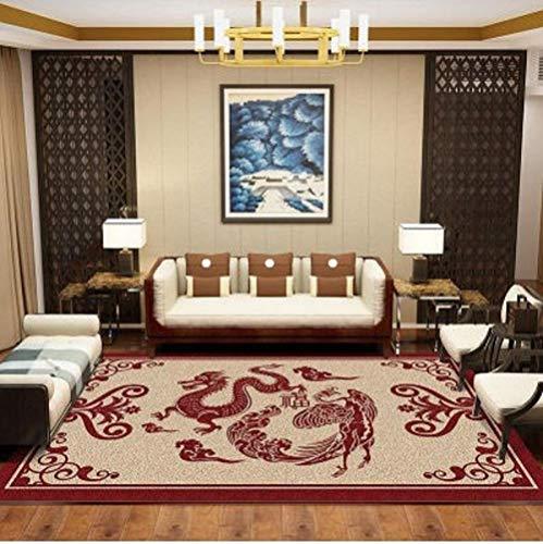 HPPSLT traditionalLivingRoomRugAreacarpet-Home accessories simple retro symmetrical carved easy care short pile carpet-60x90CM