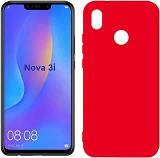 Mobile protection Cover, Flexible Plastic, Matte color Case for Huawei Nova 3i (Red)