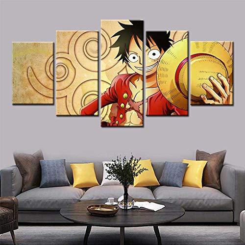 KWzEQ Moderne nordische Heimdekoration drucken 5 Anime Cartoon Poster Wandkunst Leinwand,Rahmenlose Malerei,20x35cmx2, 20x45cmx2, 20x55cmx1