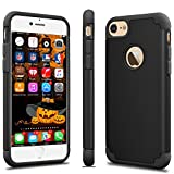 Tekcoo for iPhone 6S Case, Tekcoo for iPhone 6 Case,[TBaron] Ultra Slim Cases [Scratch Proof] [Non-Slip] Cute Hard Plastic Soft Rubber Matte Finish Dual Layers Cover Shell [Coal Black]
