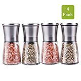 Best Spice Grinders - Premium Stainless Steel Salt and Pepper Grinder Set Review