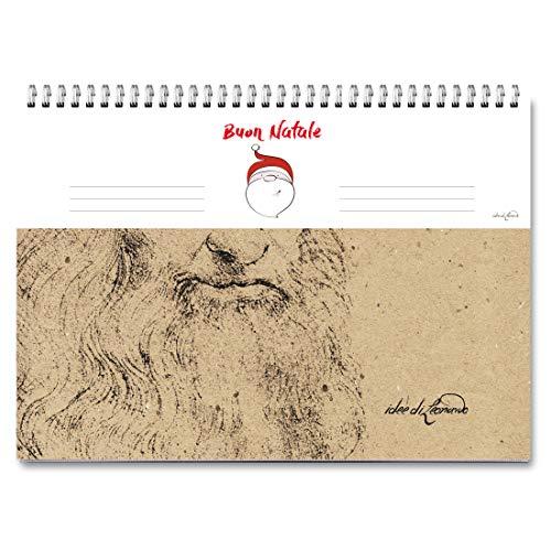 Campus – Feliz Navidad – Leonardo Da Vinci – Planificador semanal 30 x 21 – Agenda planificador de mesa perpetua con espiral metálica