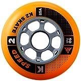K2 Inline Rollenset Wheel 4-Pack, 110mm, 3053007.1.1