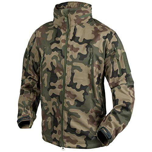 Helikon Gunfighter Soft Shell Veste PL Woodland Taille S