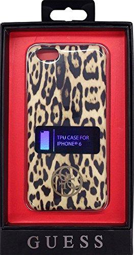Guess in TPU per iPhone 6/6S–marrone leopardato
