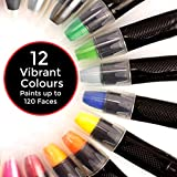 Face Paint Crayons for Kids - 12 vibranti non tossico cosmetico professionale grade 85 app...