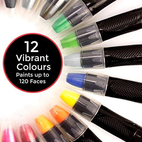 Pintura cara, niños, 12 vibrantes pinturas calidad