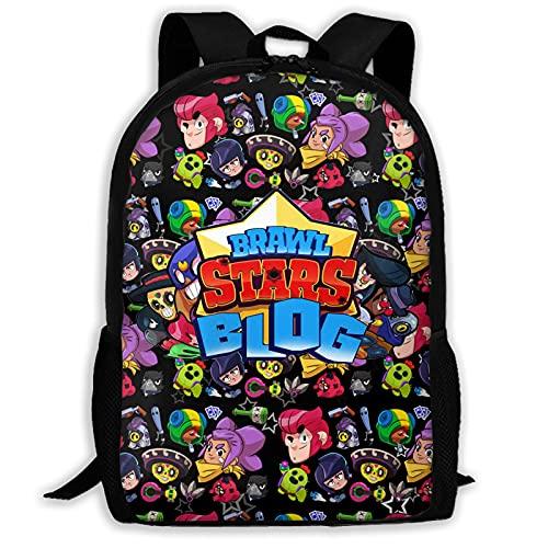 Mochila de moda Br_AW_Ler_S Unisex Casual Student Schoolbag de alta capacidad cremallera bolsa de viaje, talla única , Negro