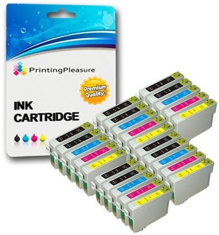 25 Premium Druckerpatronen für Epson Stylus S20 S21 SX100 SX105 SX110 SX115 SX200 SX205 SX210 SX215 SX218 SX400 SX415 SX515W D78 D92 D120 B300F | kompatibel zu Epson T0711 T0712 T0713 T0714 (T0715)