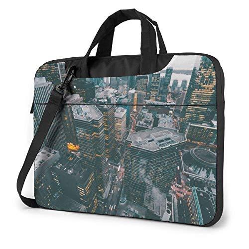 Bolsa de Hombro para computadora portátil Estuche para computadora portátil de la Ciudad de Nueva York, Funda para maletín de Transporte a Prueba de Golpes con Bolsillo Organizador