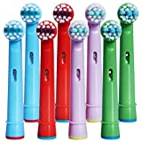 Kids Toothbrush Replacement Heads for Oral-B, Extra-Soft Bristles, Fits for Both Electric and Battery Braun Brushes, Except Vitality Sonic, CrossActino Power, Sonic Complete, Pulsonics, EB-10A