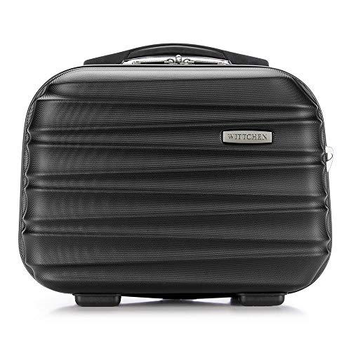 WITTCHEN Kosmetikkoffer Reisekoffer | Schwarz | 30x16x34 | Kapazität: 15L | Gewicht: 1kg