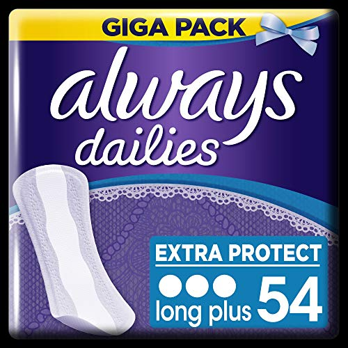Always Slipeinlagen Extra Protect Long Plus, Giga Pack, 4er Pack (4 x 54 Stück)
