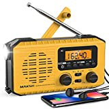 Best Solar Radios - MAKSH Emergency Radio, 5-Way Powered NOAA Solar H Review