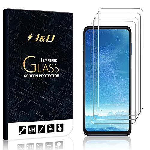 J&D Compatible para Motorola Moto G 5G Plus Protector de Pantalla, 4 Paquetes [Vidrio Templado] [NO Cobertura Completa] Cristal Templado Protector de Pantalla para Moto G 5G Plus