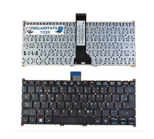 Teclado Compatible DE Y para PORTATIL Acer Aspire R 11 R3-131T-C81F EN ESPAÑOL Nuevo Negro SIN Marco