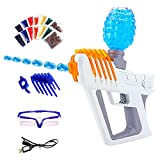 LSAMA Electric Gel Ball Blaster Gun,Automatic Splatter Ball Blaster Water Beads Shooter Toy, Water Bullets Gun with Goggles for Adults Children Outdoor Backyard Shooting Activities-Fighting Team Games