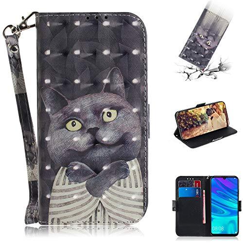 Capa tipo carteira XYX para iPhone 11 Pro, [Al?a de pulso] Capa protetora tipo carteira de couro PU colorida para iPhone 11 Pro 5,8 polegadas (abra?o o gato)