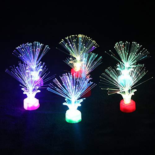 sdgfd Glasfaserlampe,Faser-Optik-Lampen-Farbe, die Faser-Optiklicht-batteriebetriebenes Faser-Faser-Brunnen-Nachtlicht für dekorative Zuhause, Schlafzimmer, Hochzeit, Weihnachten
