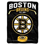 NORTHWEST NHL Boston Bruins Raschel Throw Blanket, 60' x 80', Inspired