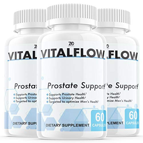 (3 Pack) Vitalflow Prostate Supplement, Vitalflow Prostate Pills, Hair Loss, DHT Blocker - Vital Flow Supports Those with Frequent Urination - Saw Palmetto (180 Capsules)
