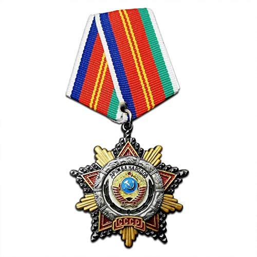 Kocreat Medalla Amistad Estrella Roja CCCP Héroe Labor Medalla WW2 USA URSS Insignia Militar Medalla de Solapa