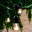 Lemontec 48 Ft Grade Outdoor String Lights with 15 Hanging Sockets