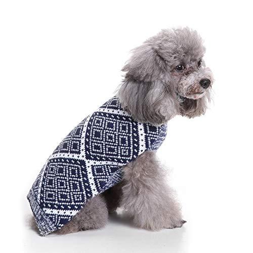 Datouya Suéter de Perro suéter Gris Azul de Punto suéter de Ropa de Tortuga de Tortuga Ropa cómoda para Perros (Color : Blue, Size : XX-Large)